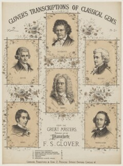 Sheet music cover for 'Glover's transcriptions of classical gems', by Michael Watson, published by  Ransford & Son - NPG D42832