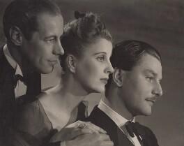 Rex Harrison; Diana Wynyard; Anton Walbrook (Adolf Wohlbruck), by Angus McBean - NPG x194340