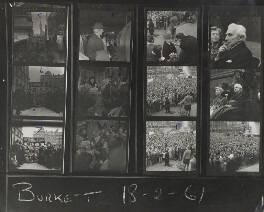 Anti-nuclear demonstrators, by Burkett, for  Daily Express - NPG x139581