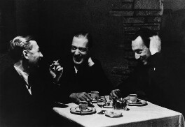 Stefan Lorant and two unknown men, by Tim Gidal - NPG x138996