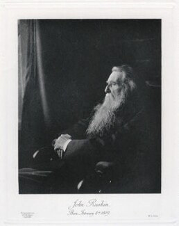 John Ruskin, by Frederick Hollyer, published by  Walter L. Colls - NPG x138999
