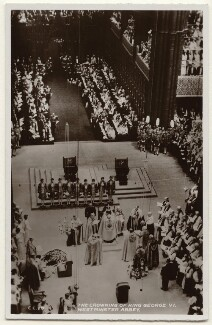 'The Coronation of King George VI, Westminster Abbey', published by James Valentine & Sons Ltd - NPG x193008