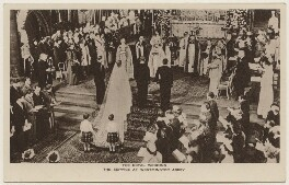 'The Royal Wedding: The Service at Westminster Abbey', published by The Photochrom Co Ltd - NPG x193011