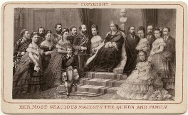'Her Most Gracious Majesty the Queen and Family', published by Hughes & Edmonds - NPG x139601