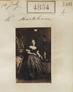 Anne Emily Sophia ('Daisy') Markham (née Grant), by Camille Silvy - NPG Ax54862
