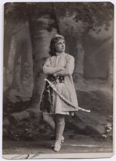 Adelaide Neilson as Viola in 'Twelfth Night', by Napoleon Sarony, late 1870s - NPG  - © National Portrait Gallery, London