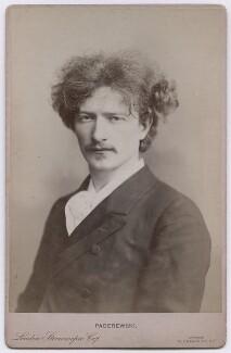 Ignace Jan Paderewski, by Oscar Remandas, for  London Stereoscopic & Photographic Company - NPG x197376