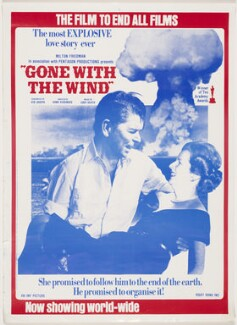 'Gone with the Wind' (Ronald Reagan; Margaret Thatcher), by Bob Light, and by  John Houston, printed by  East End Offset Ltd, published by  Socialist Workers Party - NPG D43009