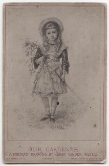'Our Gardener, A Portrait Drawing by Henry Vander Weyde', by William Axon Mansell & Co, after  Henry Van der Weyde - NPG x197406