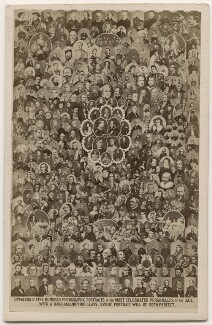 'Upwards of five hundred photographic portraits of the most celebrated personages of the age', by Frederick Holland Mares, after  Disdéri, and  Camille Silvy, and  Duroni & Murer, and  Émile Desmaisons, and  John Jabez Edwin Mayall, and  (George) Herbert Watkins, and  William Edward Kilburn, and  Horatio Nelson King, and  John & Charles Watkins, an, 1863 - NPG x139661 - © National Portrait Gallery, London