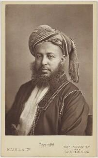 Barghash bin Said, Sultan of Zanzibar, by Maull & Co - NPG x139662