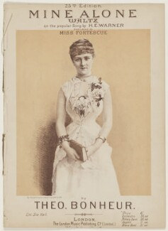 May Fortescue (née Finney), published by The London Music Publishing Company, after  Elliott & Fry - NPG D42836