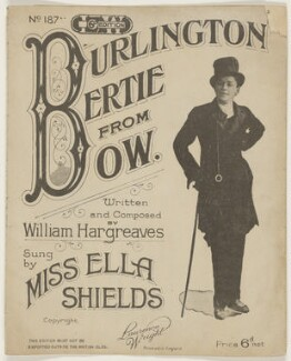 Ella Shields, published by The Lawrence Wright Music Co, after  Unknown artist - NPG D42839