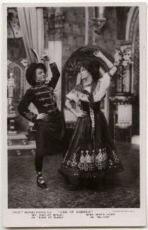 Huntley Wright as Duke of Alasia and Gracie Leigh as Militza in 'King of Cadonia', by Foulsham & Banfield, published by  Rotary Photographic Co Ltd - NPG x139683