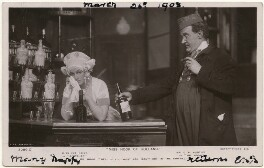 Eva Kelly as Gretchen and George Patrick Huntley as Mr Hook in 'Miss Hook of Holland', published by Rotary Photographic Co Ltd - NPG x139699