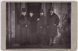 William Ewart Gladstone; Catherine Gladstone (née Glynne); Sir Edward Evans; Bernard Charles March Phillipps de Lisle, by Unknown photographer - NPG x139712
