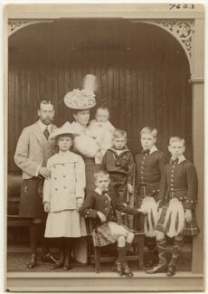 King George V with his family, by W. & D. Downey - NPG x197453