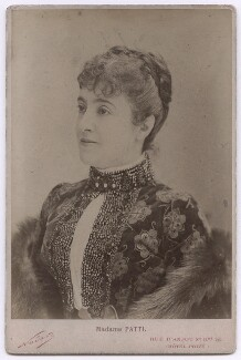 Adelina Patti, by Nadar - NPG x197481