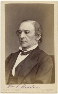 William Ewart Gladstone, by W. & D. Downey - NPG x197521