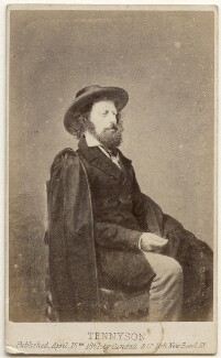 Alfred, Lord Tennyson, by James Mudd, published by  Cundall, Downes & Co - NPG x197558