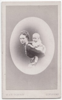 Queen Alexandra; Princess Louise, Duchess of Fife, by W. & D. Downey - NPG x197570