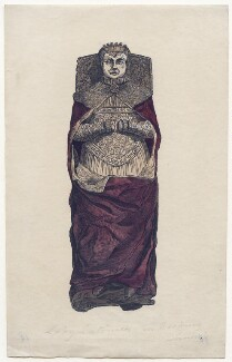 Effigy of Lucy (née Somerset), Lady Latimer in Hackney Parish Church, by Unknown artist - NPG D43022