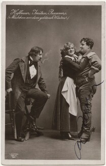 Rudolf Hofbauer, Maria Jeritza and Alfred Piccaver in 'The Girl of the Golden West', by Ludwig Gutmann - NPG x139743
