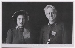 Florence Eleanor Booth (née Soper); (William) Bramwell Booth, by E.H. Mills, published by  Rotary Photographic Co Ltd - NPG x197592