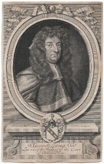 Sir Creswell Levinz, by Robert White, after  Sir Godfrey Kneller, Bt - NPG D42959