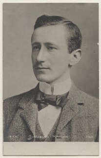 Guglielmo Marconi, published by N.R.M. - NPG x197632