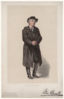 Wilson Barrett (William Henry Barrett) as Wilfred Denver in 'The Silver King', by S. Hall, printed by  Charles Goodall & Son - NPG D43034