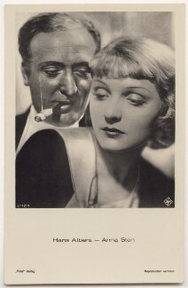 Hans Albers and Anna Sten in 'Bombs Over Monte Carlo', for Universum Film A.G. (UFA), published by  Ross-Verlag - NPG x139763