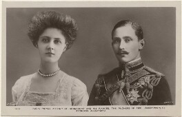 Princess Alexandra, Princess Arthur of Connaught; Prince Arthur of Connaught, published by Rotary Photographic Co Ltd, after  Lallie Charles, and after  Lafayette - NPG x197675