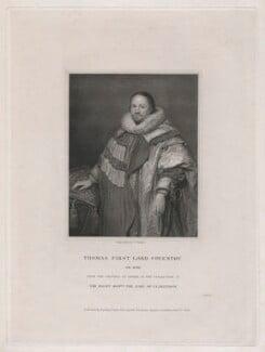 Thomas Coventry, 1st Baron Coventry, by J. Parker, published by  Harding, Triphook & Lepard, after  Cornelius Johnson (Cornelius Janssen van Ceulen) - NPG D43049