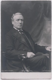 Herbert Henry Asquith, 1st Earl of Oxford and Asquith, by Elliott & Fry - NPG x197707