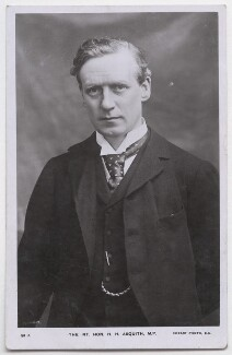 Herbert Henry Asquith, 1st Earl of Oxford and Asquith, by Thomson, published by  Rotary Photographic Co Ltd - NPG x197709