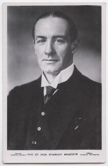 Stanley Baldwin, 1st Earl Baldwin, by Vandyk, published by  J. Beagles & Co - NPG x197712