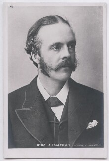 Arthur James Balfour, 1st Earl of Balfour, by James Russell & Sons, published by  Rotary Photographic Co Ltd - NPG x197715