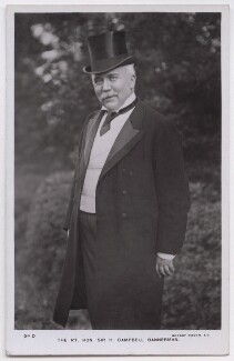 Sir Henry Campbell-Bannerman, published by Rotary Photographic Co Ltd - NPG x197730