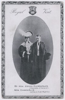 'Royal Visit' (Mary Endicott Carnegie (née Endicott) (formerly Chamberlain); Joe Chamberlain), by Unknown photographer - NPG x197744