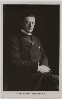 Sir (Joseph) Austen Chamberlain, by James Russell & Sons - NPG x197752