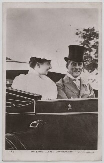 Ivy Muriel (née Dundas), Lady Chamberlain; Sir (Joseph) Austen Chamberlain, published by Rotary Photographic Co Ltd - NPG x197754