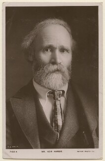 Keir Hardie, by E.H. Mills, published by  Rotary Photographic Co Ltd - NPG x197785