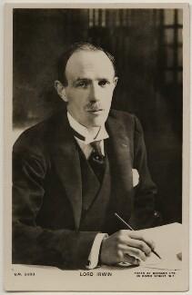Edward Frederick Lindley Wood, 1st Earl of Halifax, by Bassano Ltd - NPG x197791