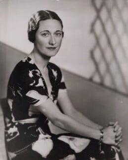 Wallis, Duchess of Windsor, by Fayer - NPG x194345