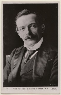 David Lloyd George, by E.H. Mills, published by  J. Beagles & Co - NPG x197799