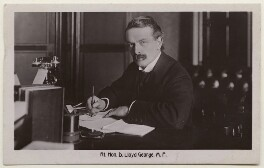 David Lloyd George, by James Russell & Sons, published by  The Shenley Real Photo Post Card (Percy Redjeb) - NPG x197806