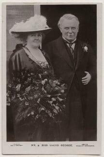 Dame Margaret Lloyd George (née Owen); David Lloyd George, by Daily Mirror, published by  J. Beagles & Co - NPG x197815