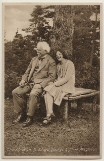 David Lloyd George; Lady Megan Arfon Lloyd George, published by Francis Frith & Co Ltd - NPG x197818