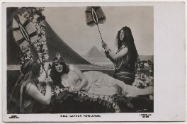 Gaynor Rowlands as Cleopatra with two unknown actresses, by Lemeilleur, published by  Rapid Photo Co - NPG x197844